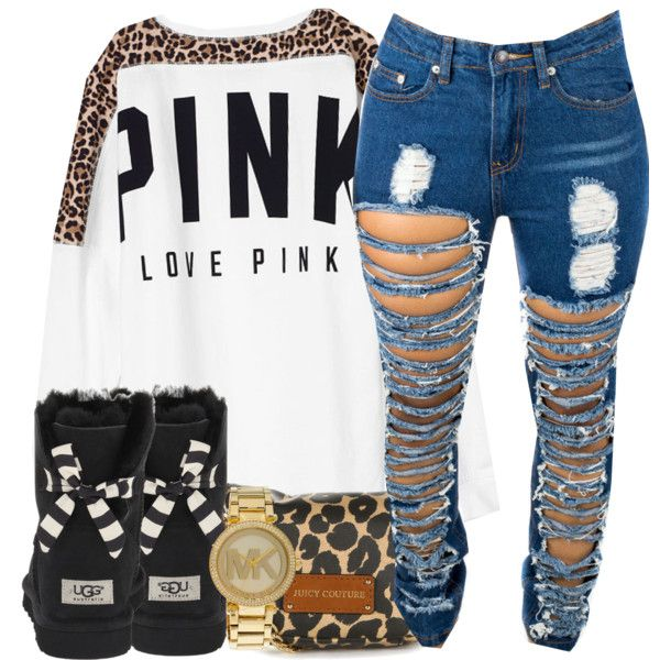 Cheetah prints by hispeaceprincess on Polyvore featuring Victoria's Secret PINK, UGG Australia, Juicy Couture and Michael Kors
