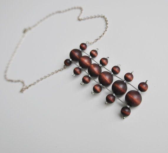 Aarikka Finland Kinetic Beads Necklace / Kaija by NordicJewels