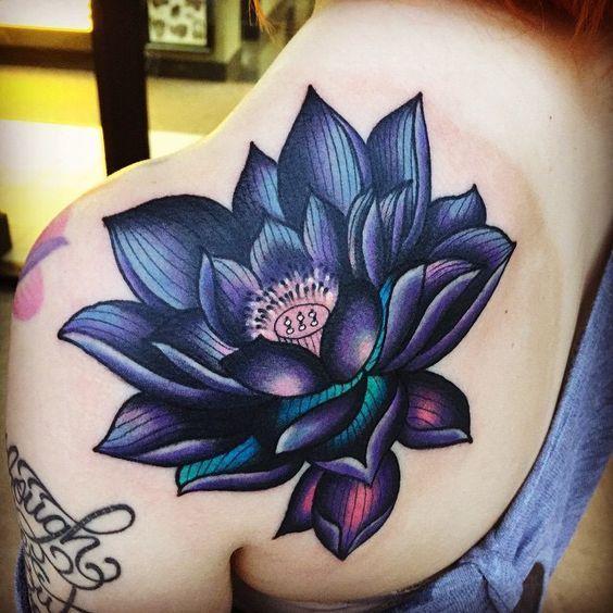 ▷▷ +557 (Photos) Tatuajes de LOTO FLOWERS 【By parts of the body】