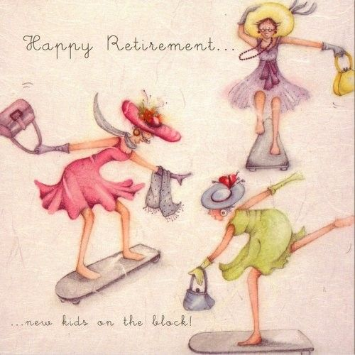 Happy Retirement New Kids On The Block Berni Parker Designs Card £2.75 - FREE Postage
