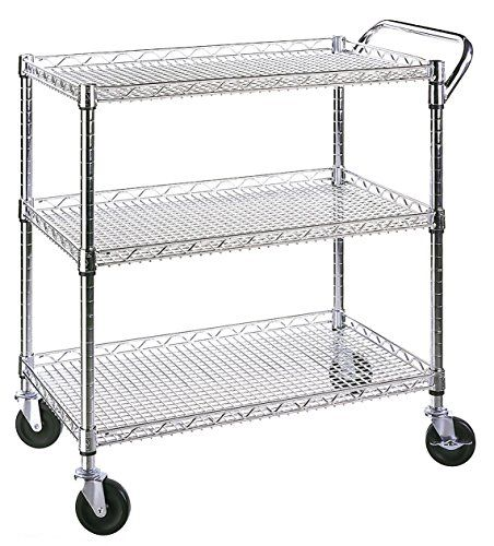 Seville Classics Industrial All-Purpose Utility Cart, NSF...