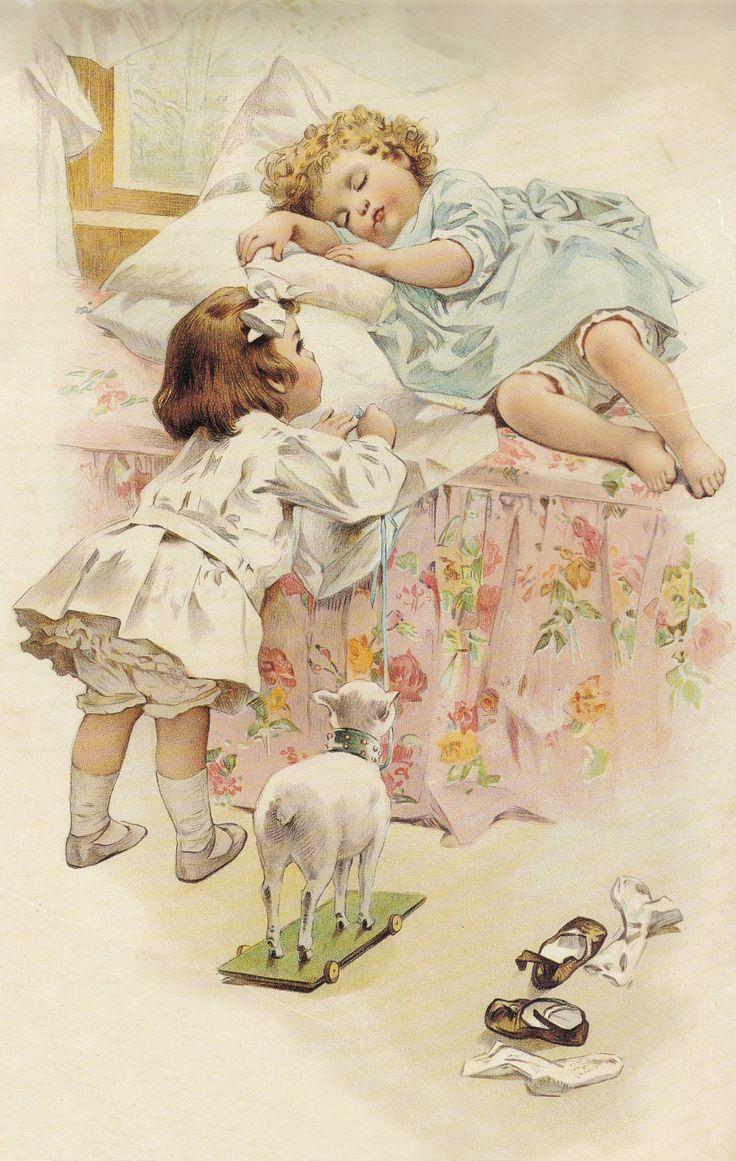Зарубежные открытки о детях, новому
