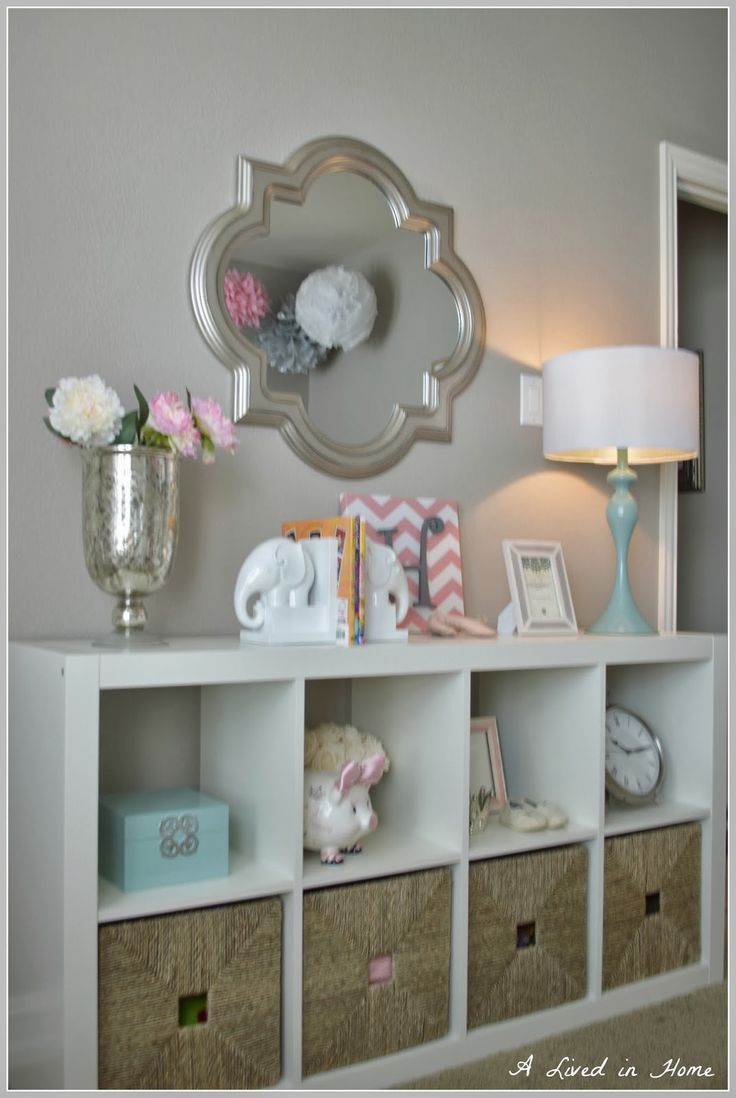 Love the style of baskets.   A Lived in Home: Nursery Reveal