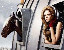 какой будет 2014 новый год, девушка и лошадь фото