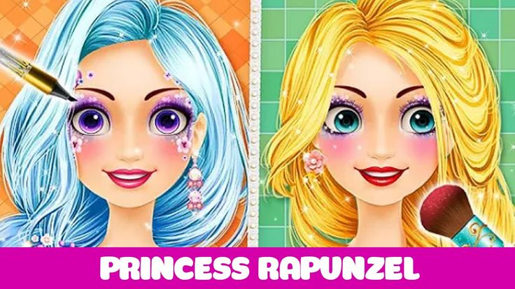 LONG HAIR! Barbie Princess Hair Salon - Princess Rapunzel Hairstyle Game...