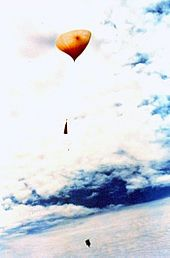 Atmospheric Soundings: weather balloons or sounding balloons; type of high altitude balloon which carries instruments aloft to send back information on atmospheric pressure, temperature, humidity & wind speed by means of a small, expendable measuring device called a radiosonde; to obtain wind data, they can be tracked by radar, radio direction finding or navigation systems