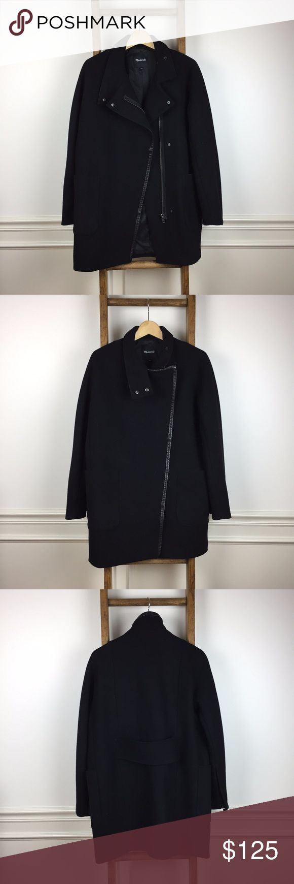 Madewell City Grid Coat Size 6