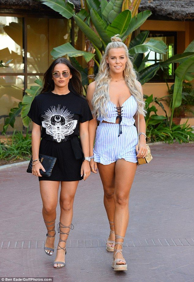 Walk this way:Following suit, Courtney and Chloe Meadows were also slightly more appropriate that usual