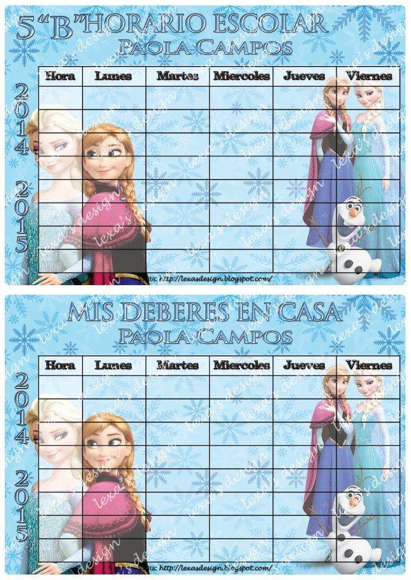 Etiquetas Escolares, Imprimibles Digitales Frozen - BsF 150,00 en ...