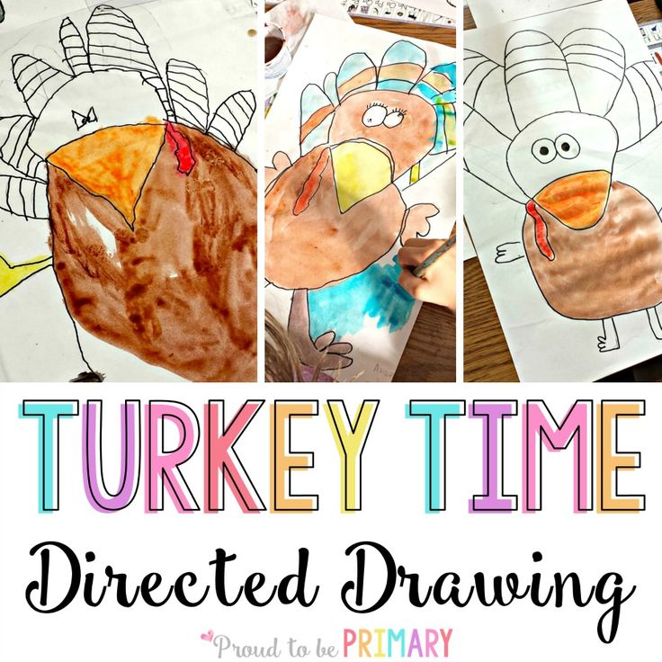 Looking for the perfect arts and craft activity for Thanksgiving? This turkey directed drawing provides teachers with a step-by-step lesson that kids will love!