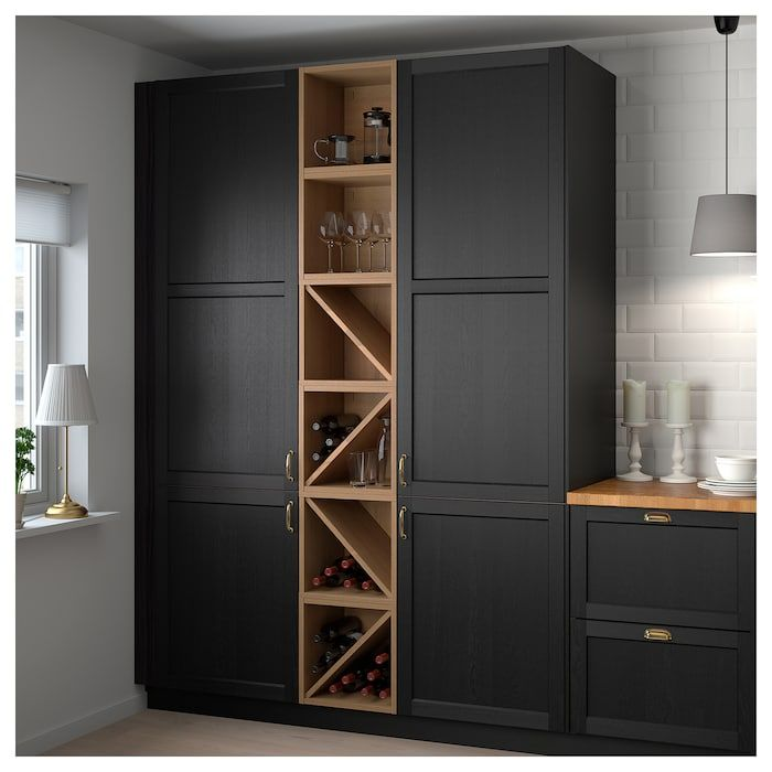 Ikea Vadholma Brown Stained Ash Wine Shelf In 2020 Wine Shelves