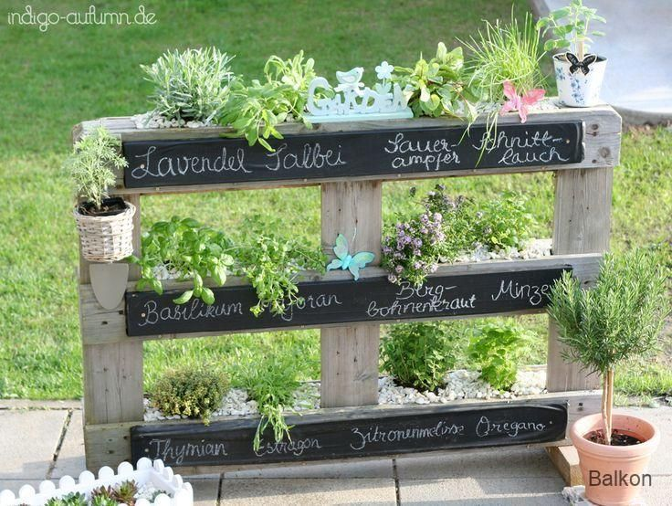 Varanda Minha paleta de ervas – perfeita para o verão no jardim! – Gama de ervas. Ame …