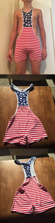 Clothing 79796: New Mens America Wrestling Singlet Gay ...