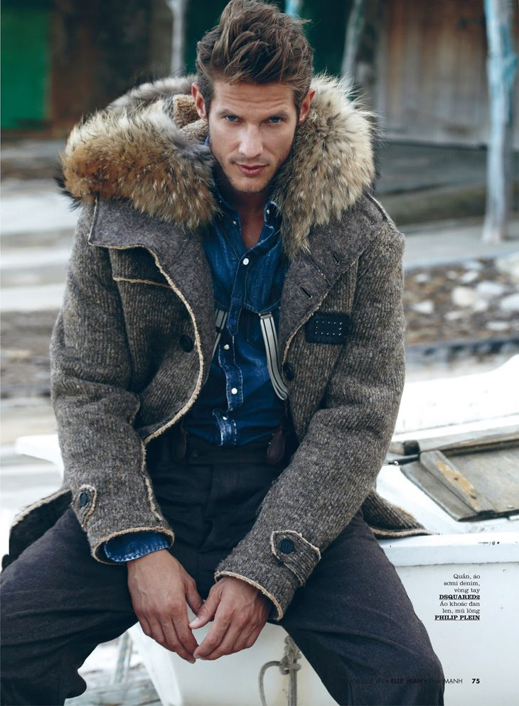 ♂ Masculine and elegance man's fashion casual wear Domenique Melchior by Juan Martin for Elle Man Vietnam