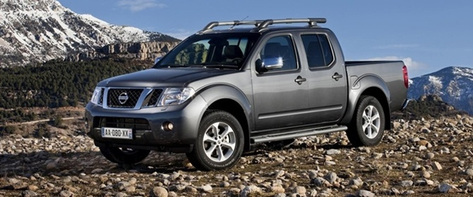 The Navara in the mountains.