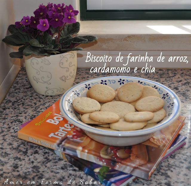 Biscoitos De Farinha De Arroz Cardamomo E Chia Sem Gluten