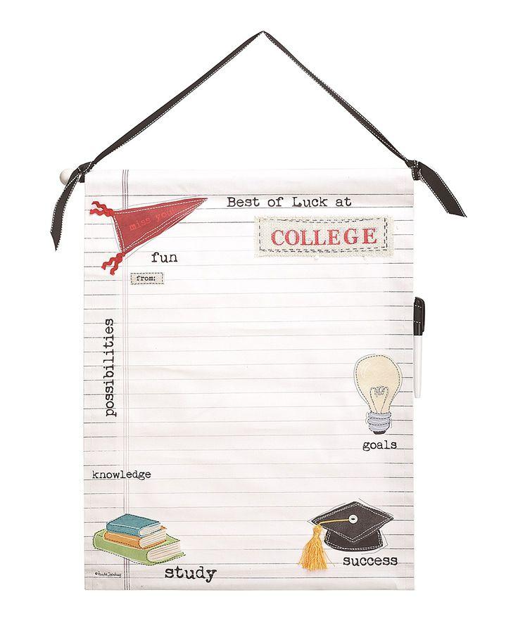 Autographable Canvas College Banner