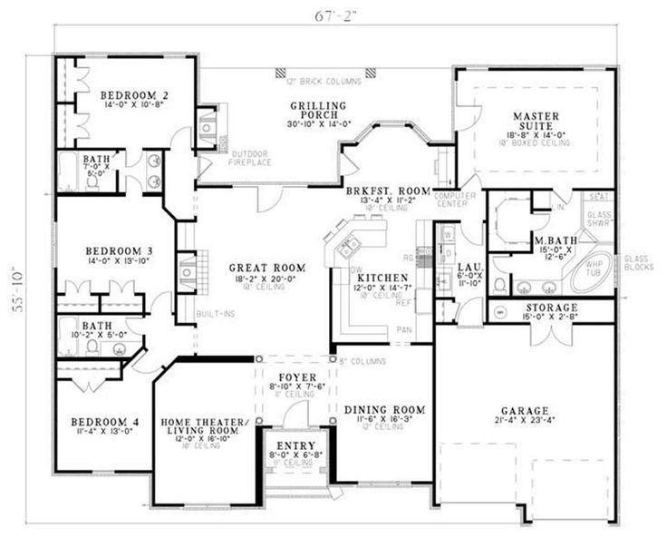 Floor Plan First Story House Floor Plans Pinterest