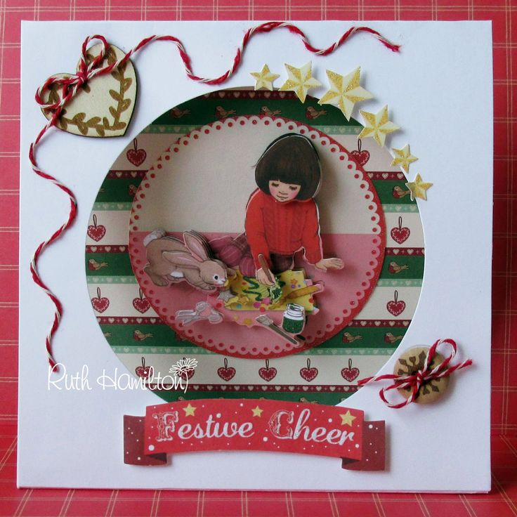 A Passion For Cards: How to Make a Belle and Boo Christmas Tent card (Trimcraft)