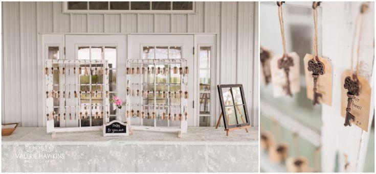 Skeleton Key Reception Table Seating Name Tags  ...  Valerie Hawkins Photography: Magnolia Estate Wedding   Nate & Tiffany