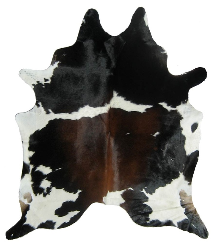 cowhide rug black brown and white special