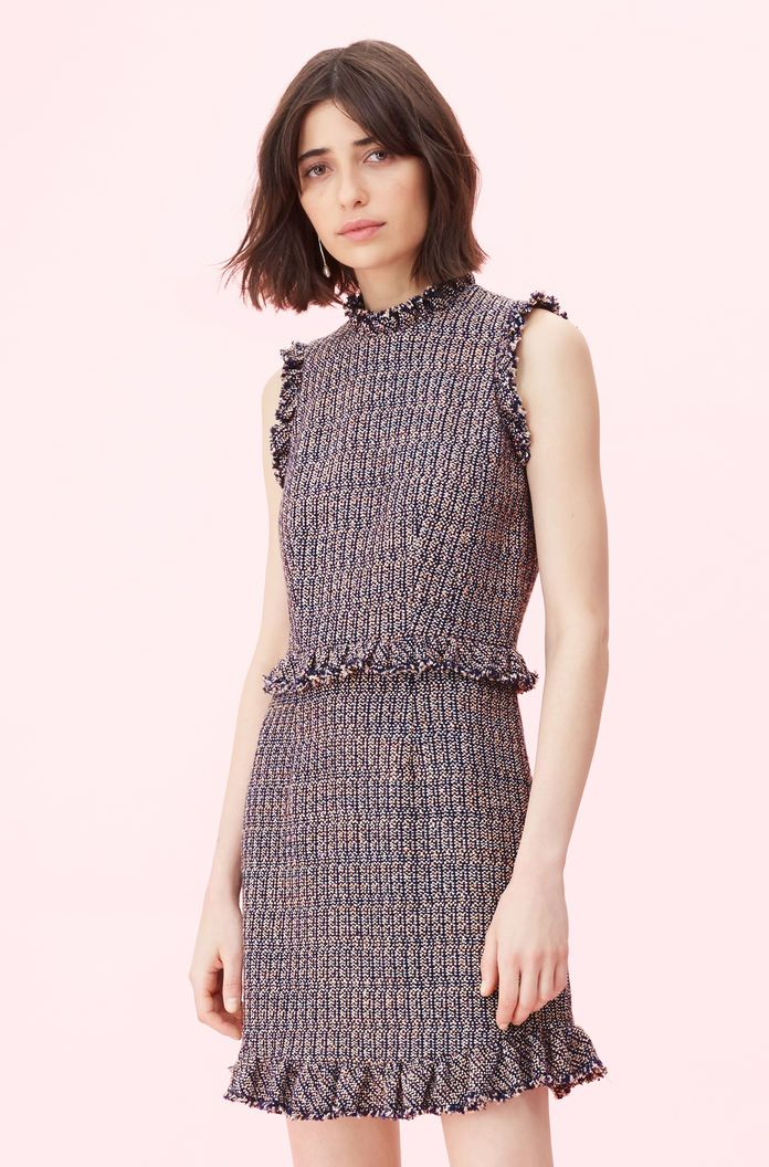Tweed Dress Rebecca Taylor Tweed Dress Dresses Rebecca Taylor Dress
