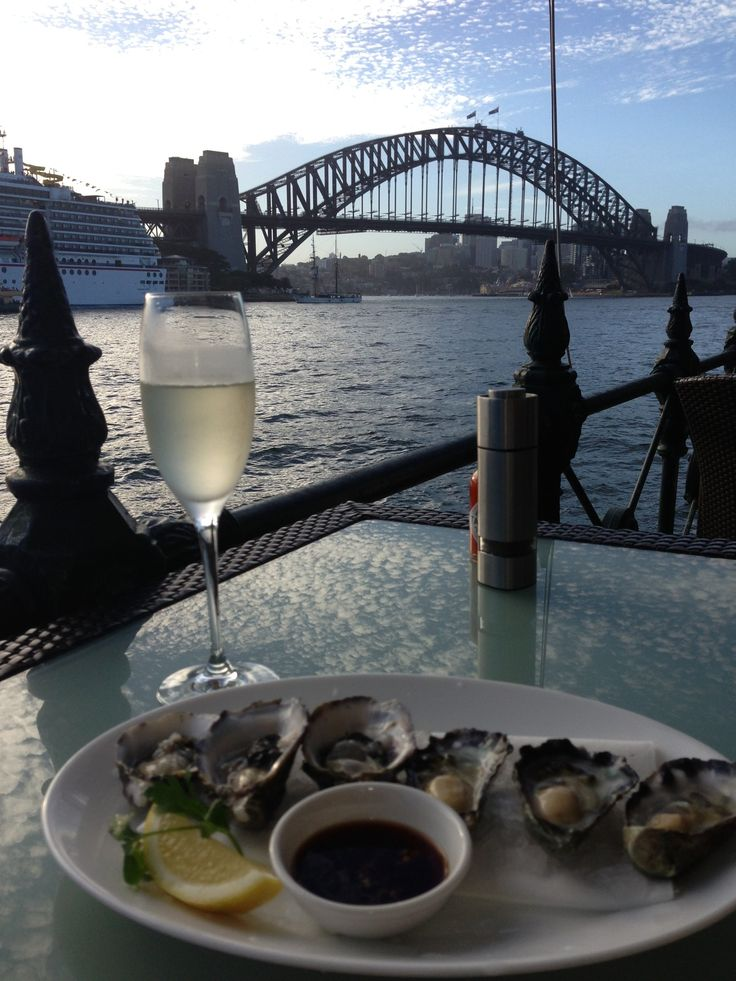 The Sydney Cove Oyster Bar at Circular Quay - so good to have a place where the food and service matches the view. Highly recommended!