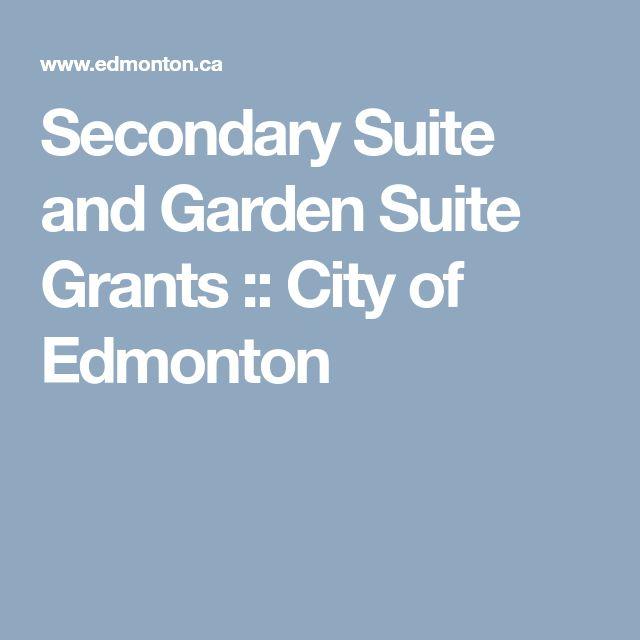 Secondary Suite and Garden Suite Grants :: City of Edmonton