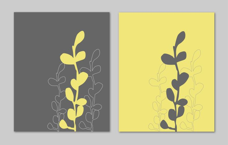 Yellow and Gray Bathroom Art Home Decor Prints by karimachal, $27.00