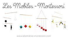 Découvrez tous les mobiles Montessori - Tutoriel + Patron gratuits ! Mobile de Munari, Mobile des octaèdres, Mobile de Gobbi, Mobile des danseurs www.alternative-montessori.com