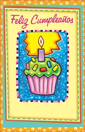 Spanish birthday cards greeting