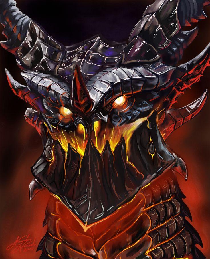 Deathwing Bust | World of Warcraft | Pinterest | Art
