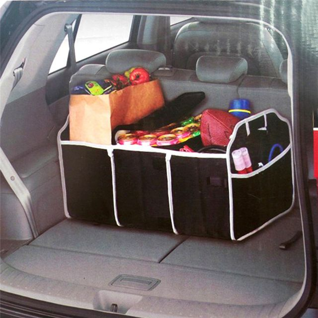 Vodool Car Trunk Organizer with Cooler Bag http://ali.pub/mu4dw Collapsible Black Car Trunk Organizer for Toys, Food,...