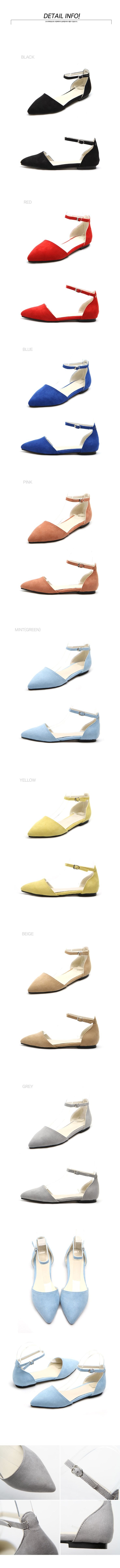 Ankle Strap D'Orsay Flats    Price$27.30