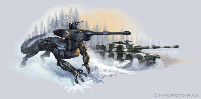 ẢNH ẤN TƯỢNG: Chiến đấu cơ, xe tăng Nga bỗng chốc biến thành... quái vật thời tiền sử - Ảnh 5.