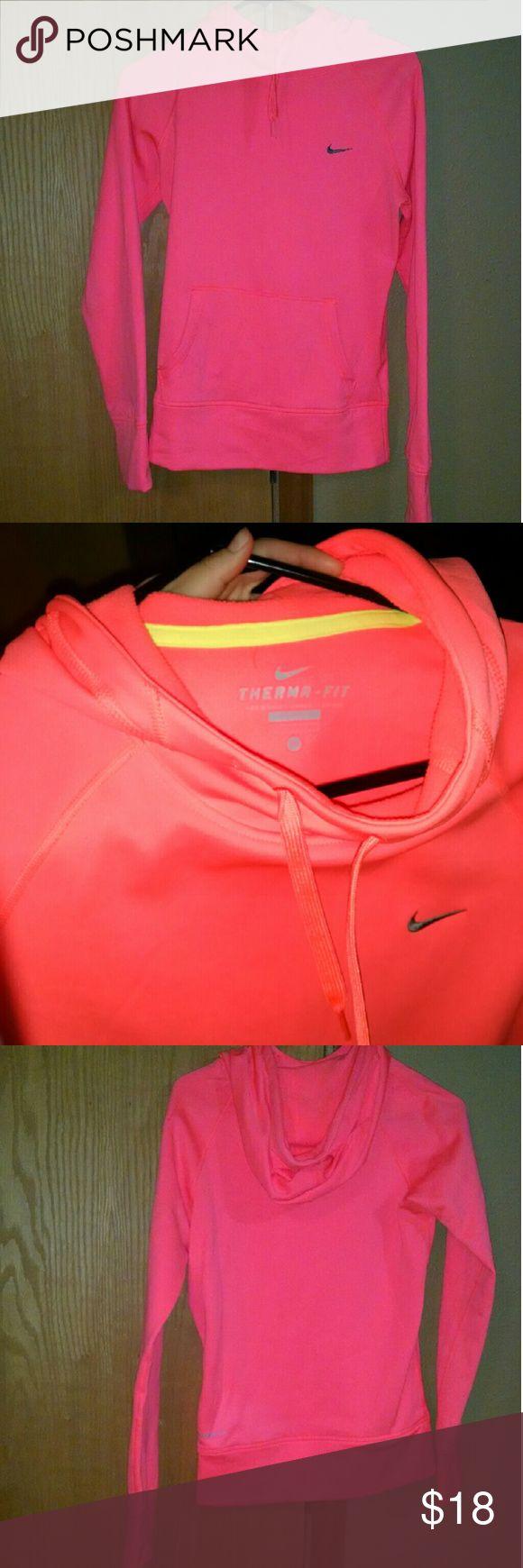 Women's nike sweatshirt Women's bright orange Nike sweatshirt. very warm and cozy. Great shape!! Nike Tops Sweatshirts & Hoodies