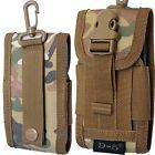 Universal Belt Loop Hook Pouch Case Cover Army Camo Holster Bag For Mobile Phone