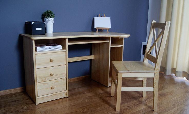 #biurko #inspiracje Biurko drewniane sosnowe[7] Meble Drewniane - meble sosnowe producent