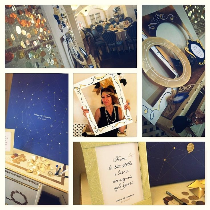 """Constellation guest book and """"great gatsby"""" inspired photobooth"""