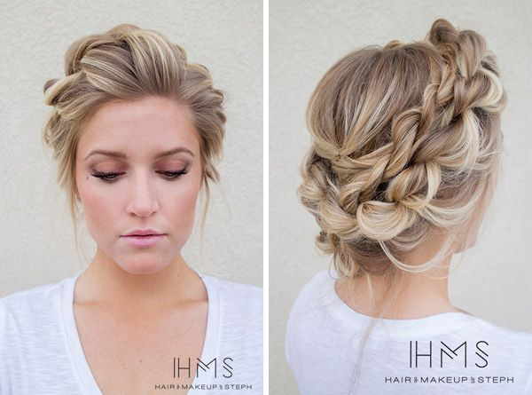 61 Braided Wedding Hairstyles: 17 Best Ideas About Braided Updo On Pinterest