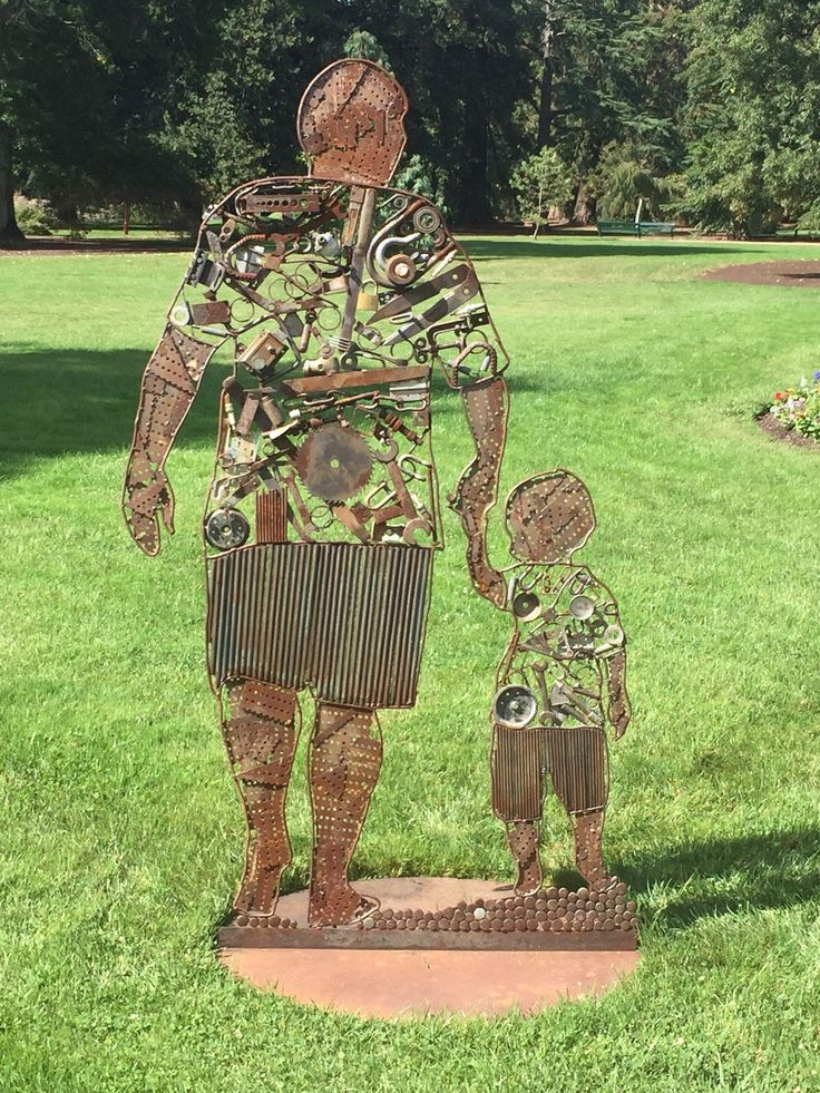 #JunkArt, #Metal, #RecycledArt, #Rusty, #Sculpture This is a piece from a couple of years ago, it captures the bond between father and son. Created from 100% recycled materials.