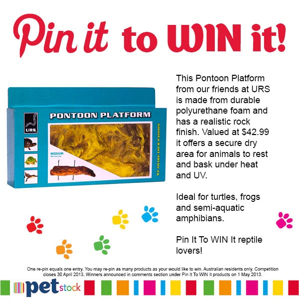 You could WIN the URS Medium Pontoon Platform for your scaly friend. Pin it now!