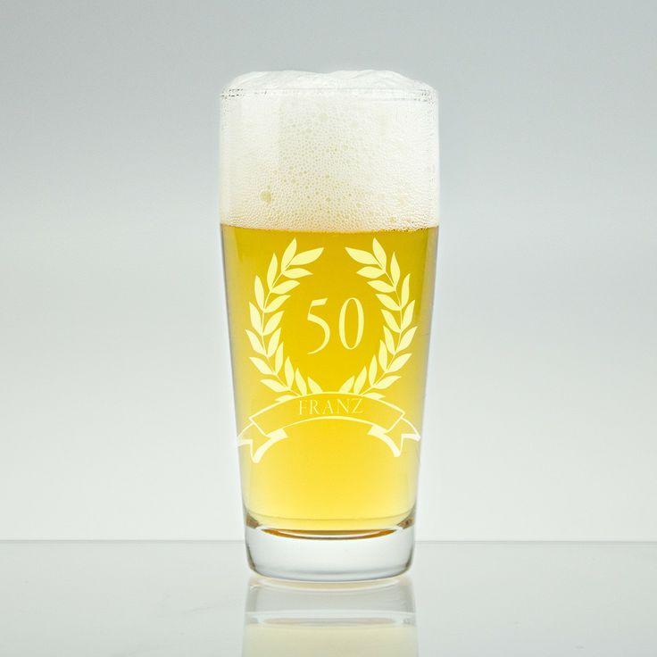 Bierglas kleines Helles-Glas mit Gravur - Geschenke von Geschenkidee