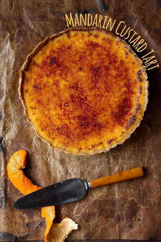 Sweet, ripe citrus juice and a bit of zest are used to flavorful a simple custard which is baked into a flaky crust for this Mandarin Custard Tart.