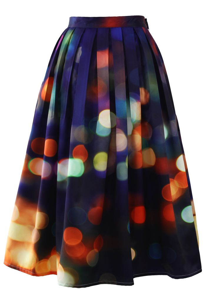 Chicwish Neon Light Pleated Midi Skirt - Skirt - Bottoms - Retro, Indie and Unique Fashion