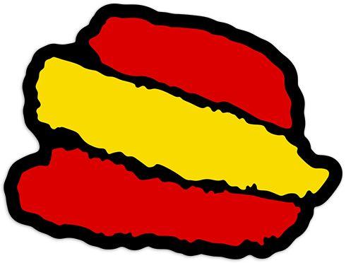 Pegatinas trazos espa a bandera pegatina teleadhesivo pegatinas pinterest pegatinas - Teleadhesivo vinilos decorativos espana ...