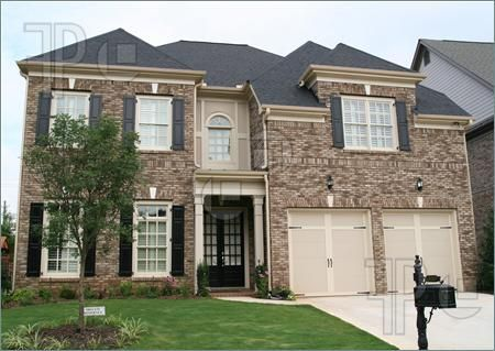 Google image result for for Brick houses without shutters