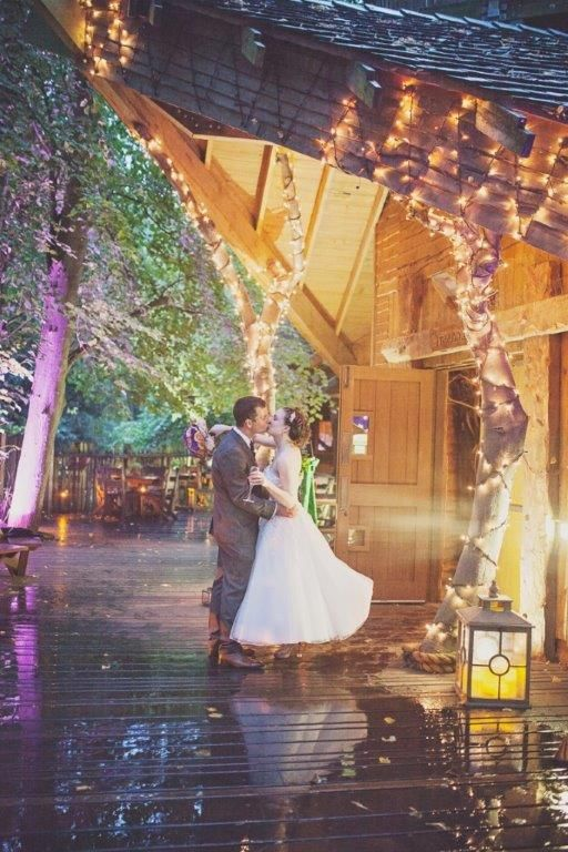 Katy Melling Photography | Alnwick Treehouse Wedding Venue  Beautiful venue, look at those lights!