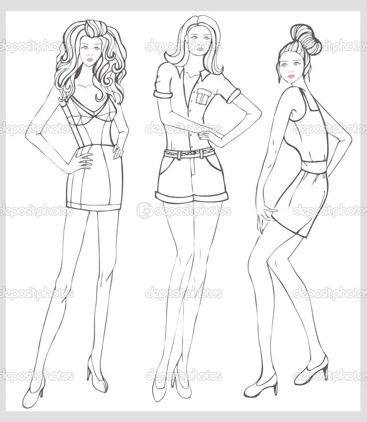 17 Best A Mannequin Drawing For Fashion Design Images On Fashion Model Coloring Pages