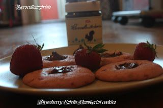 Strawberry Nutella thumbprint cookies
